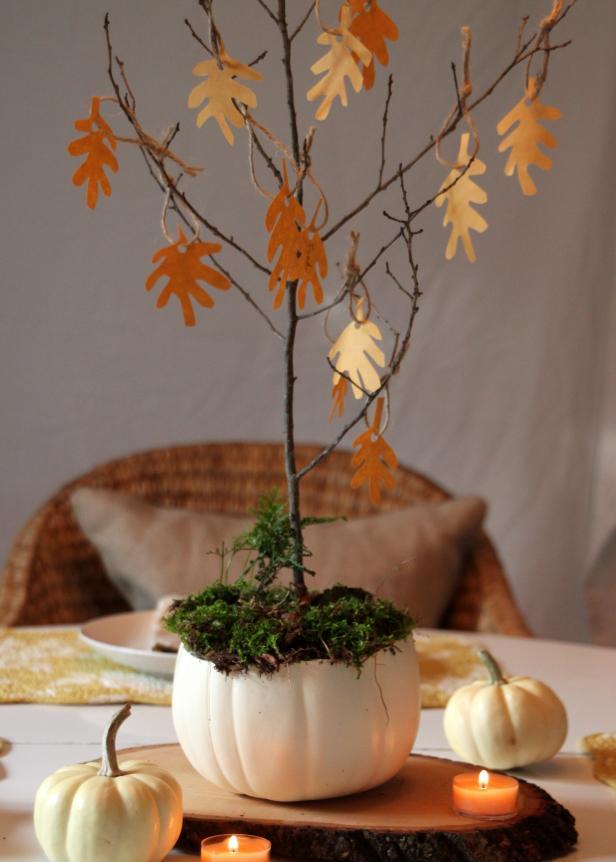 Ozdobný stromček na jeseň