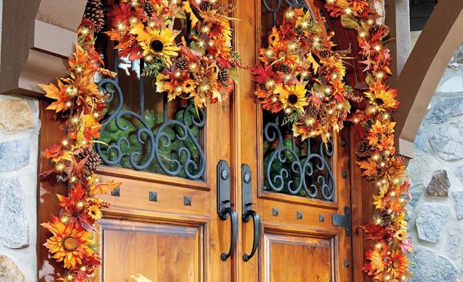 Ozdobte dvere svojimi vianočnými girlandami